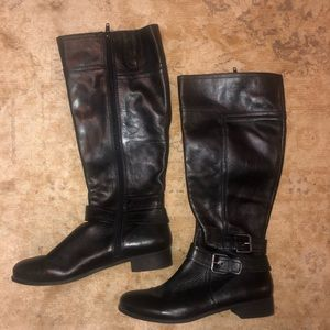Nine West Vintage America Black Leather Boots